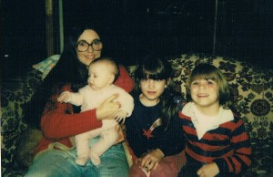 My mom, sister, brother, and me (circa early 1980s)